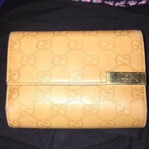 Vintage Gucci Brown Leather Wallet (Authentic)